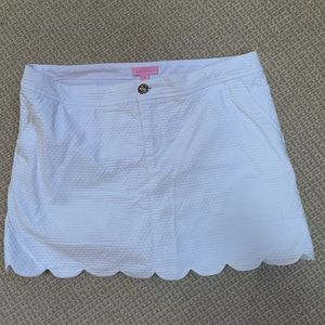 Lilly Pulitzer Scalloped Edge Skort